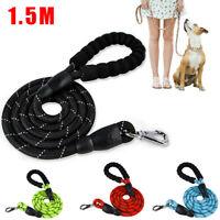 Dog Strong Woven Rope Leash Slip Lead Leash for Pet Dogs Puppy No Pull Training