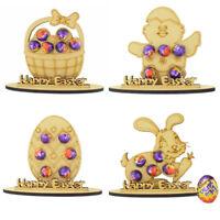 Personalised Easter Gift Chocolate Egg Holder Bunny Kids Lockdown Treat Name