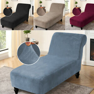 Chaise Lounge Causal Chair Sofa Cover Form Fit Stretch Furniture Slipcover AU