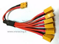 CONNETTORE XT60 M a 6 XT60 F T914 X ATTACCO IN PARALLELO 6 BATTERIE 1/10 1/8 VRX