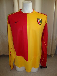 Lens 2003 - 2004 Player Issue Sponsorless Home Shirt by Nike BNWT (L)