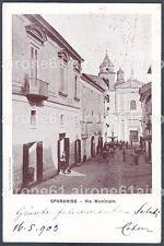CASERTA SPARANISE 02 MUNICIPIO Cartolina viaggiata 1903