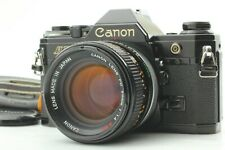 [NEAR MINT] Canon AE-1 35mm SLR Camera Black Body FD 50mm f1.4 Lens From Japan