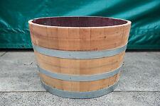 2 For $199 Genuine American Oak Wood Garden Patio Half Wine Barrel Hogshead