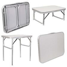 Heavy Duty 2ft Folding Camping Picnic Garden Table Lightweight Aluminium Legs Uk