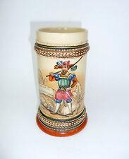 Chope à bière Cruche avec Proverbe À 1900 peint à la main