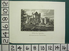 1808 DATED ANTIQUE PRINT ~ HOLTON HOUSE ~ OXFORDSHIRE STORER
