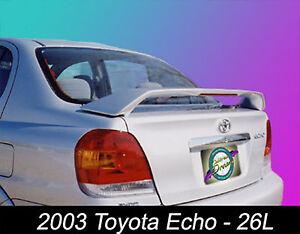 UNPAINTED 2000-2005 TOYOTA ECHO CUSTOM STYLE REAR WING SPOILER