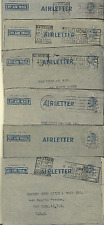 AUSTRALIA 1948-49 AIRLETTERS KG VI LOT OF 81 BRISBANE,PERTH,SYDNEY,MELBOURNE