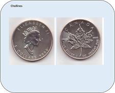 5 DOLARES DE PLATA AÑO 1990   CANADA    ( MB11416 )