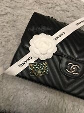 Chain Gold & Céladon Brooch Nwt Chanel $700 Authentic Cc Classic Flap Bag