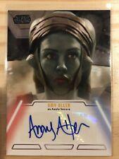 Amy Allen 2013 Star Wars Jedi Legacy ( Aayla Secura ) autograph auto card #3