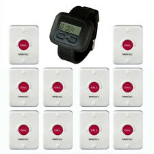 SINGCALL Wireless Calling Pager Waiter Systems for Bathroom Hotel 10 Buttons