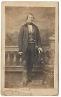 CDV Distinguished Looking Man Standing Full Length - No Photographer or City