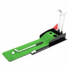 Mini Desktop Golf Clubs Putter Pen Kits Set With Flag Grass Balls Golfer Fans