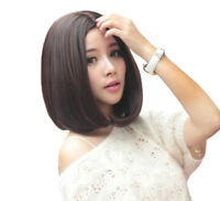 Fashion Women Short Straight Hair Wigs Cosplay Party Bob Hair Wig Heat Resistant