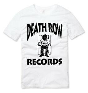 Death Row Records Hip Hop T Shirt White