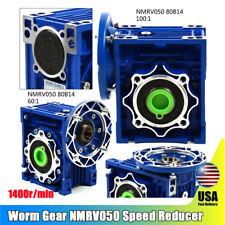 Worm Gear Nmrv050 Speed Reducer 80b14 Input 19mm Ratio 601 100 1 Flange Input