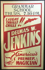 Original Delmas W. Jenkins Window Card