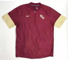 Nike Men's Florida State Seminoles Hot Jacket 1/4 Zip Jacket SzL NEW 746951614-