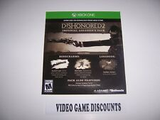 Dishonored 2 DLC Add-on Code for Xbox One 1 XB1 - Imperisl Assassin's Pack
