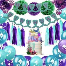 Unicornio Fiesta Ombre Tejido Pom Pom apoyos de la foto Niñas Cumpleaños Boda Decoración