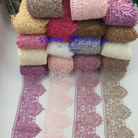 FP235 1 Yard Crochet Lace Trim Ribbon Applique Dress Sewing Home textiles Decor