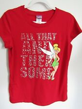 Disney Tinkerbell Red T-Shirt Junior XL 15 17 All That
