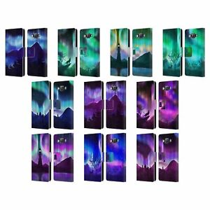 HEAD CASE DESIGNS NORTHERN LIGHTS LEATHER BOOK WALLET CASE FOR SAMSUNG PHONES 2