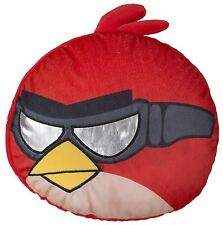 Red Angry Birds Go Fast Shaped Embroidered Cushion - 35cm x 33cm