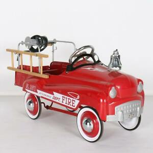 Burns Novelty & Toy Co Fire Truck Pedal Car  #287