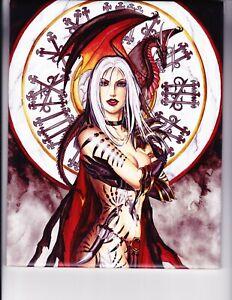 "Witching Hour Ceramic Tileby Fantasy Artist Nene Thomas 8"" x 10"" - Pristine"