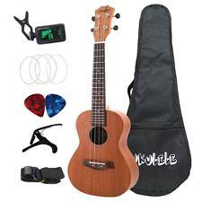 Sapele Kits de Ukelele de Concierto de 23 Pulgadas 4 Cuerdas Mini Guitarra  M2O7