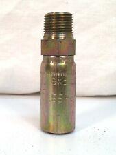 Parker Paraflex 10155-6-6 Male Pipe Adapter 3/8 NPT X 3/8 Hose - Steel