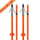 Bowfishing Arrow Fiberglass Arrows Bowfish Hunting with Safe Slide 6 pcs