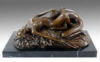 Erotik Wiener Bronze - Cunnilingus - Lesbenspiel - signiert Lambeaux