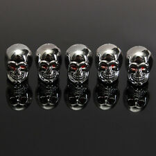 5x Car Skull Truck Wheel Tyre Tire Stem Air Valve Caps Dust Accessories Covers