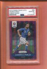 2016 PANINI PRIZM UEFA PURPLE ANDREA PIRLO 99 MADE PSA 10 ITALY POP 1