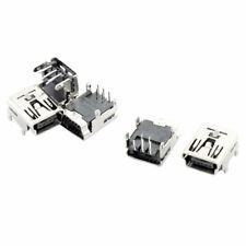 Mini USB Type B Female Socket 5-Pin Right Angle DIP Jack Connector 5 Pcs