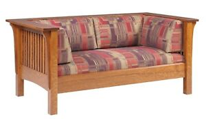 Mission Arts and Crafts Stickley Style Prairie Spindle Loveseat Made to Order!