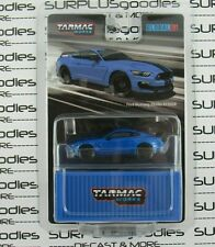Tarmac Works 1:64 2020 Global64 Blue Ford Mustang Shelby Gt350R T64G-011-Bl