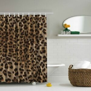 RALPH LAUREN Leopard Cheetah Shower Curtain Fabric Cotton Animal print 72x72 NEW