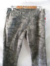 True Religion authentic gray splatter cotton print straight leg jeans 31 33