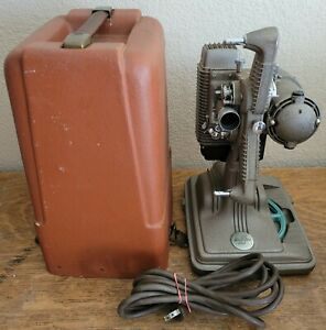 Vtg 1940s Revere Camera Co. Model 85 8mm Movie Projector WORKS with Case & Cord