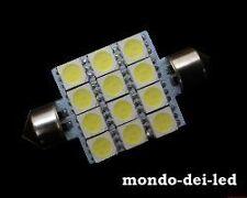 2X Lampada luci targa/interno siluro a led 42 mm T11 C5W 12 SMD 6000K reali