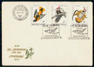 Mayfairstamps HUNGARY FDC 1985 COVER AUDUBON BIRDS COMBO wwk3521