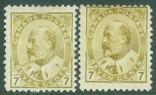 CANADA : 1903. Unitrade #92. 2 Fresh & Fine, Mint OGH stamps. Catalog $800.