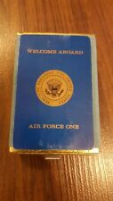 WELCOME ABOARD AIR FORCE ONE 1980-1990's UNOPENED DECK OF PLAYING CARDS US PRES