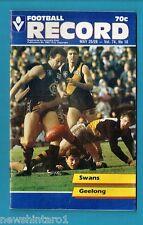 #NN. AUSTRALIAN RULES FOOTBALL RECORD, SYDNEY SWANS V GEELONG  25-26/5/1985