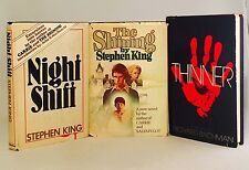 Stephen King-3 Books!!-First/1st BCE's!!-Shining-Night Shift-Thinner-VERY RARE!!